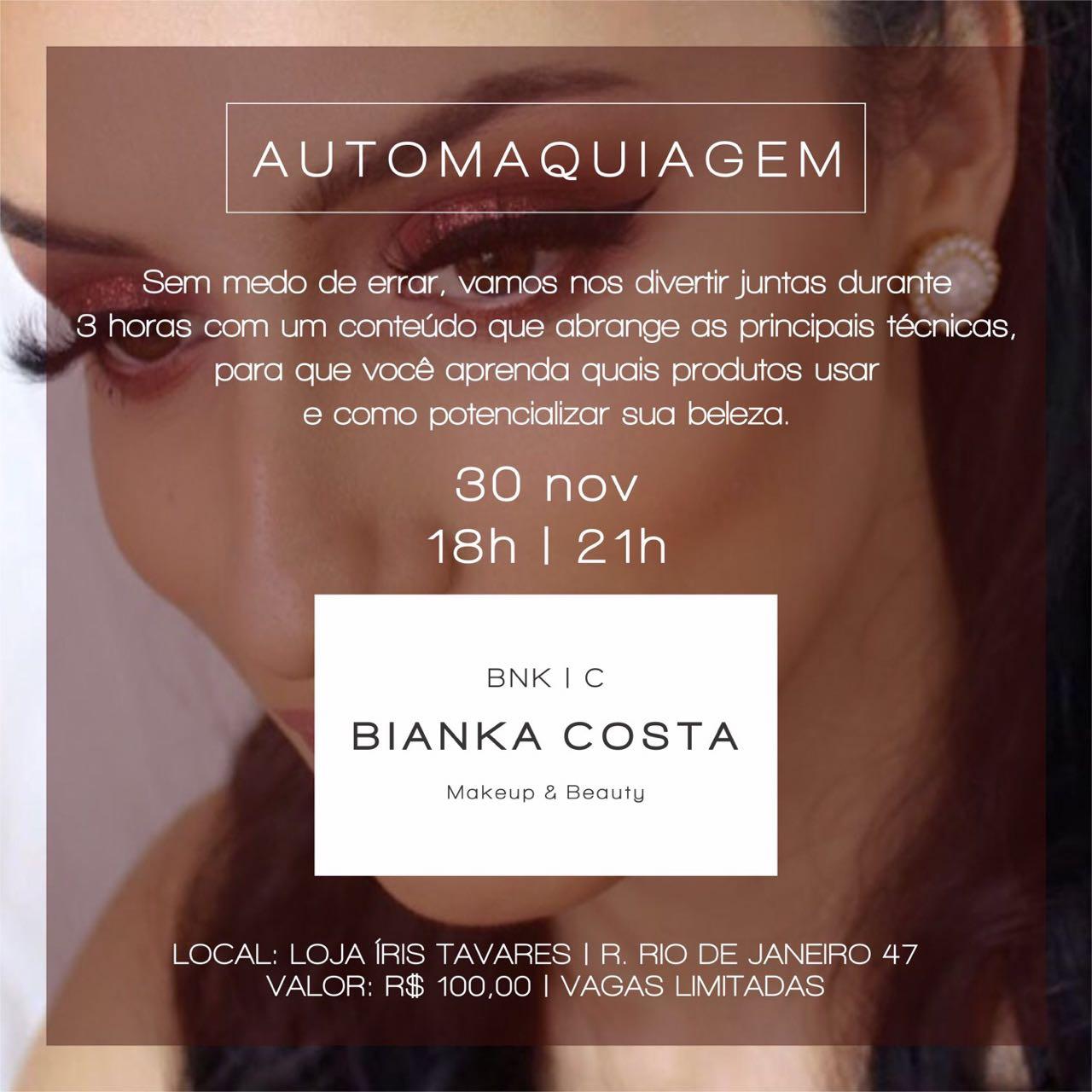 Curso de Automaquiagem com Bianka Costa
