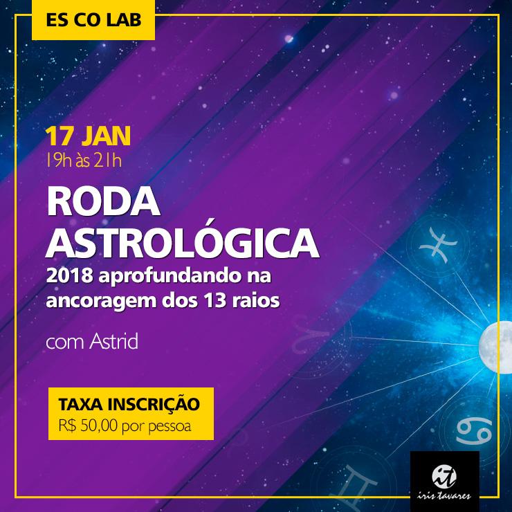 Roda Astrológica: 2018 aprofundando na ancoragem dos 13 raios com Astrid
