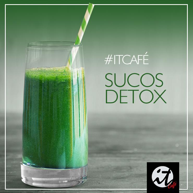 Sucos Detox na IT CAFÉ