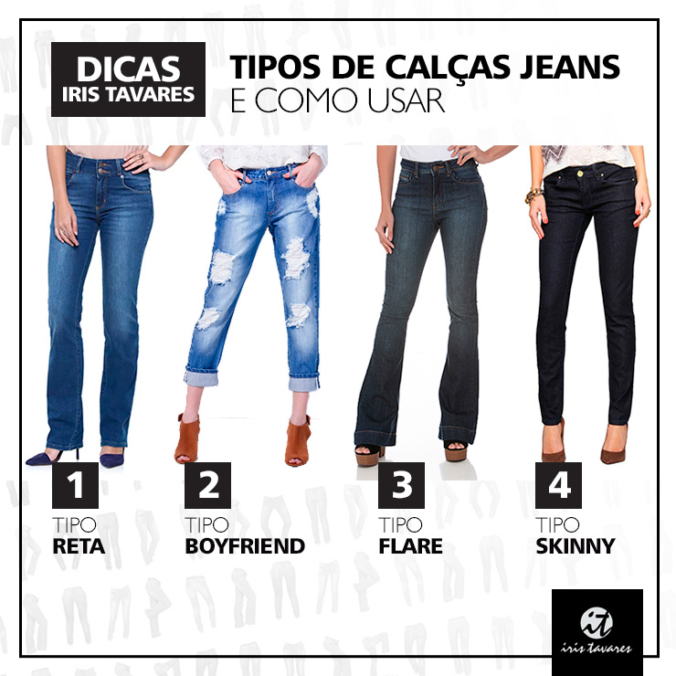 Está em dúvidas qual é o melhor tipo de calças jeans pra você?